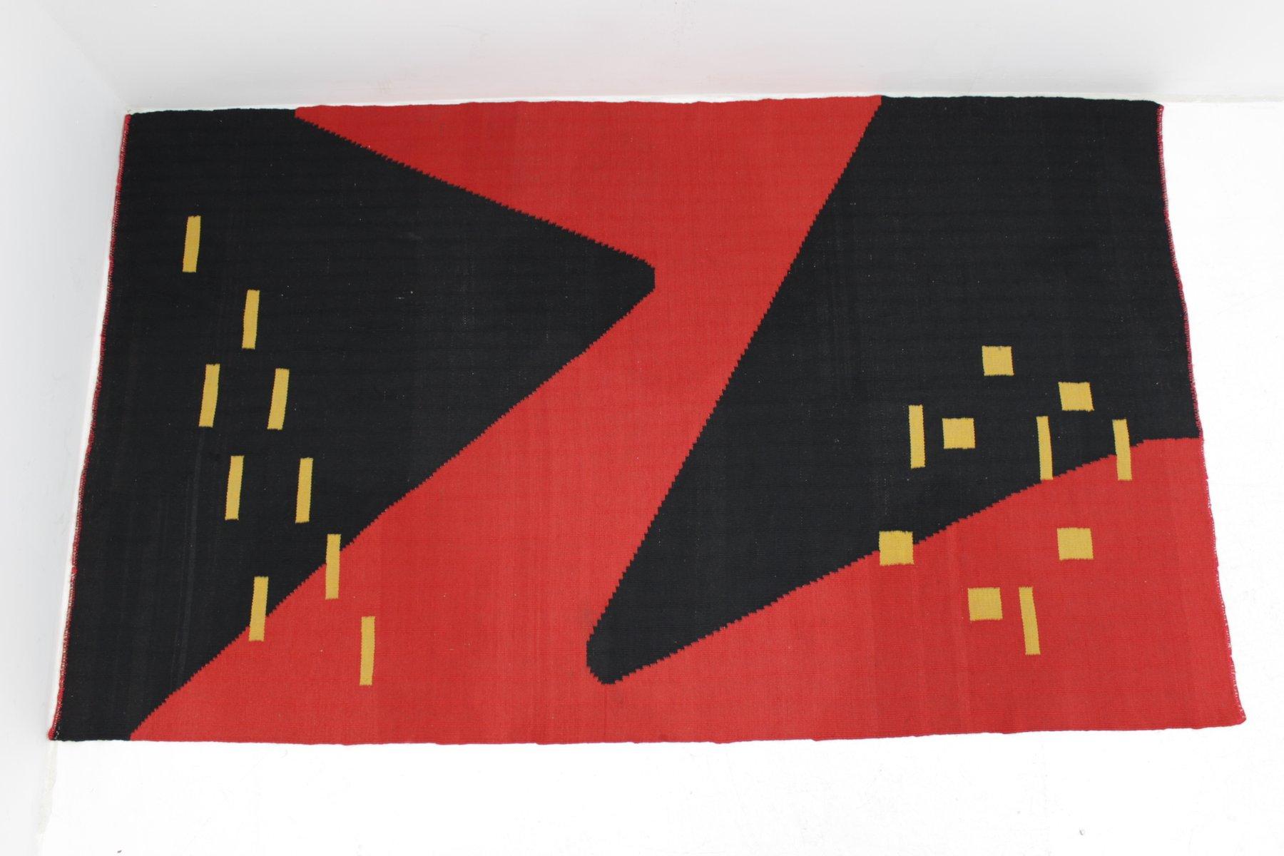 tapis style kilim moderniste g om trique 1959 en vente sur pamono. Black Bedroom Furniture Sets. Home Design Ideas