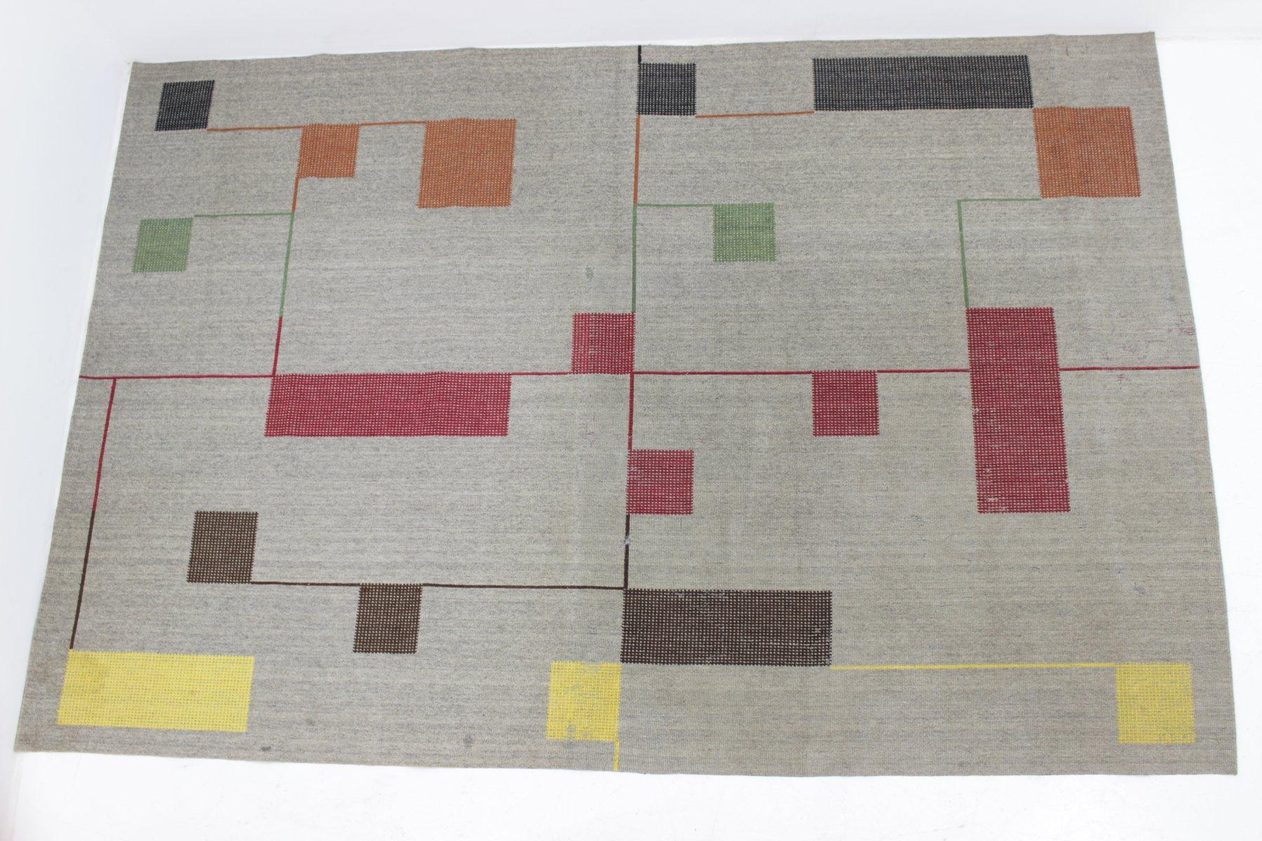 geometrische teppiche im bauhaus stil 1940er 2er set bei pamono kaufen. Black Bedroom Furniture Sets. Home Design Ideas