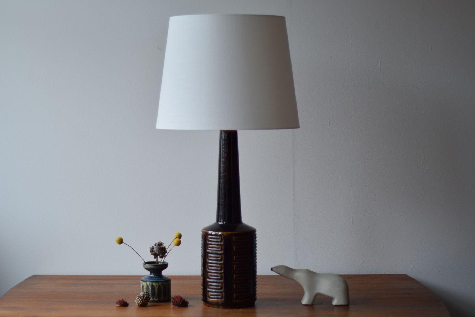 Very Tall Scandinavian Brown Table Lamp By Per Linnemann Schmidt For Palshus 1960s