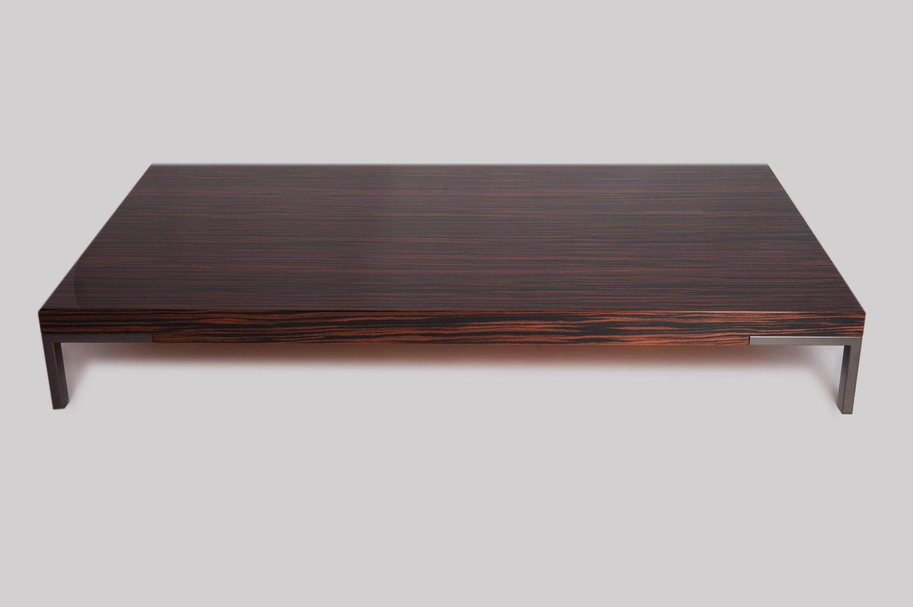 Tavolino da caffè Romeo vintage impiallacciato in legno di Emaf ...