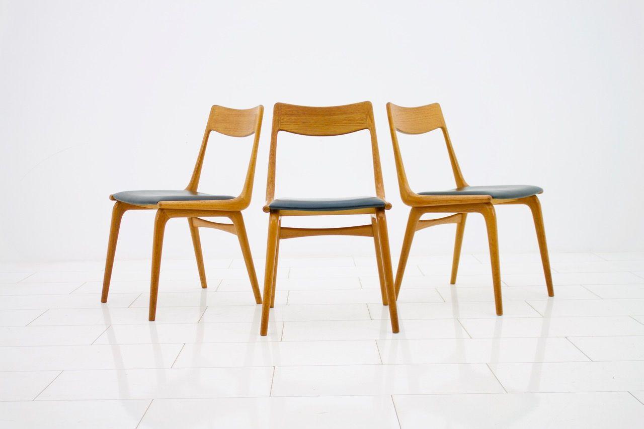 Superieur Boomerang Dining Chairs By Erik Christensen For Slagelse Møbelværk, 1950s,  Set Of 3
