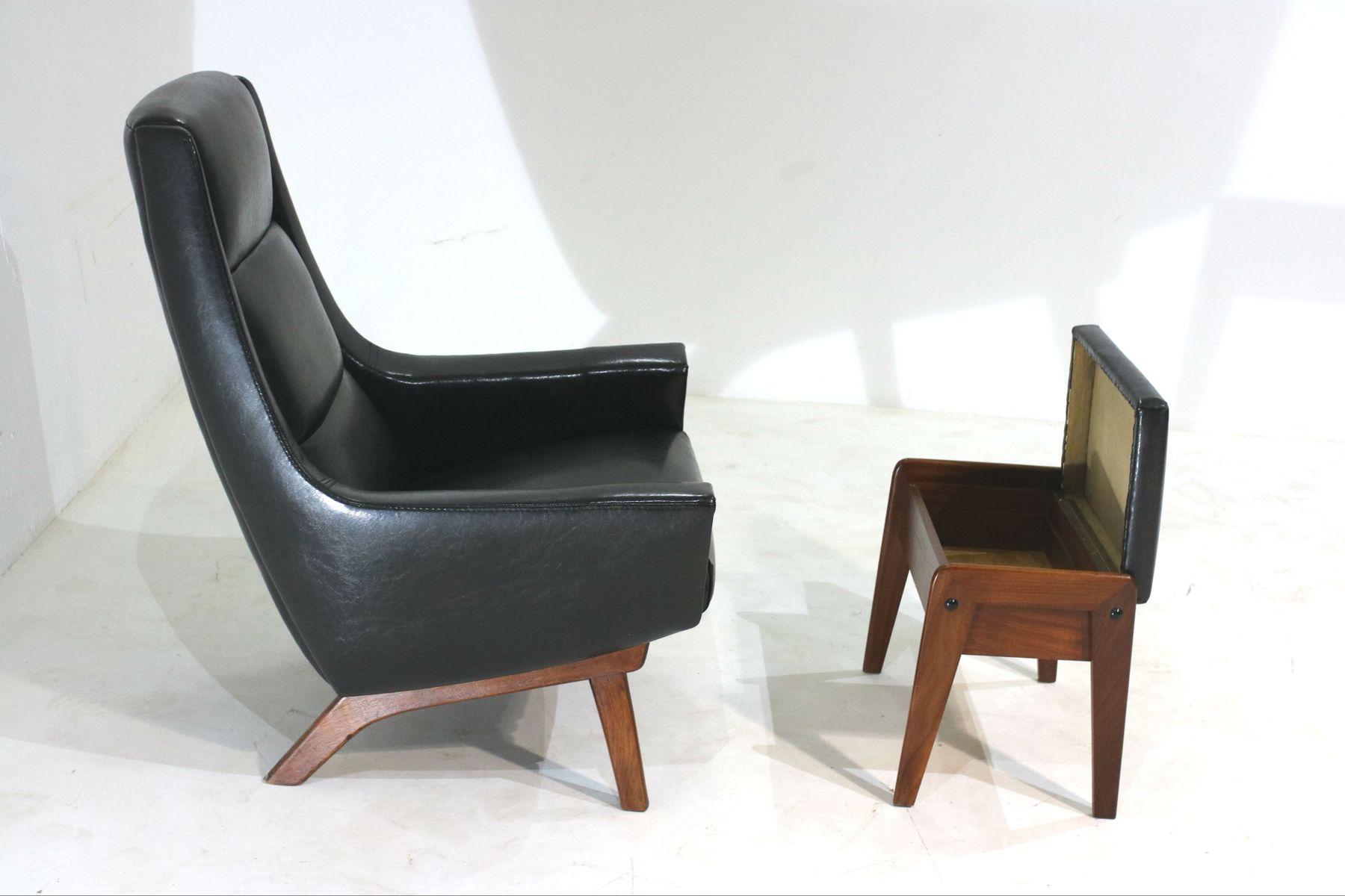 Danischer Sessel Hocker 1960er Bei Pamono Kaufen