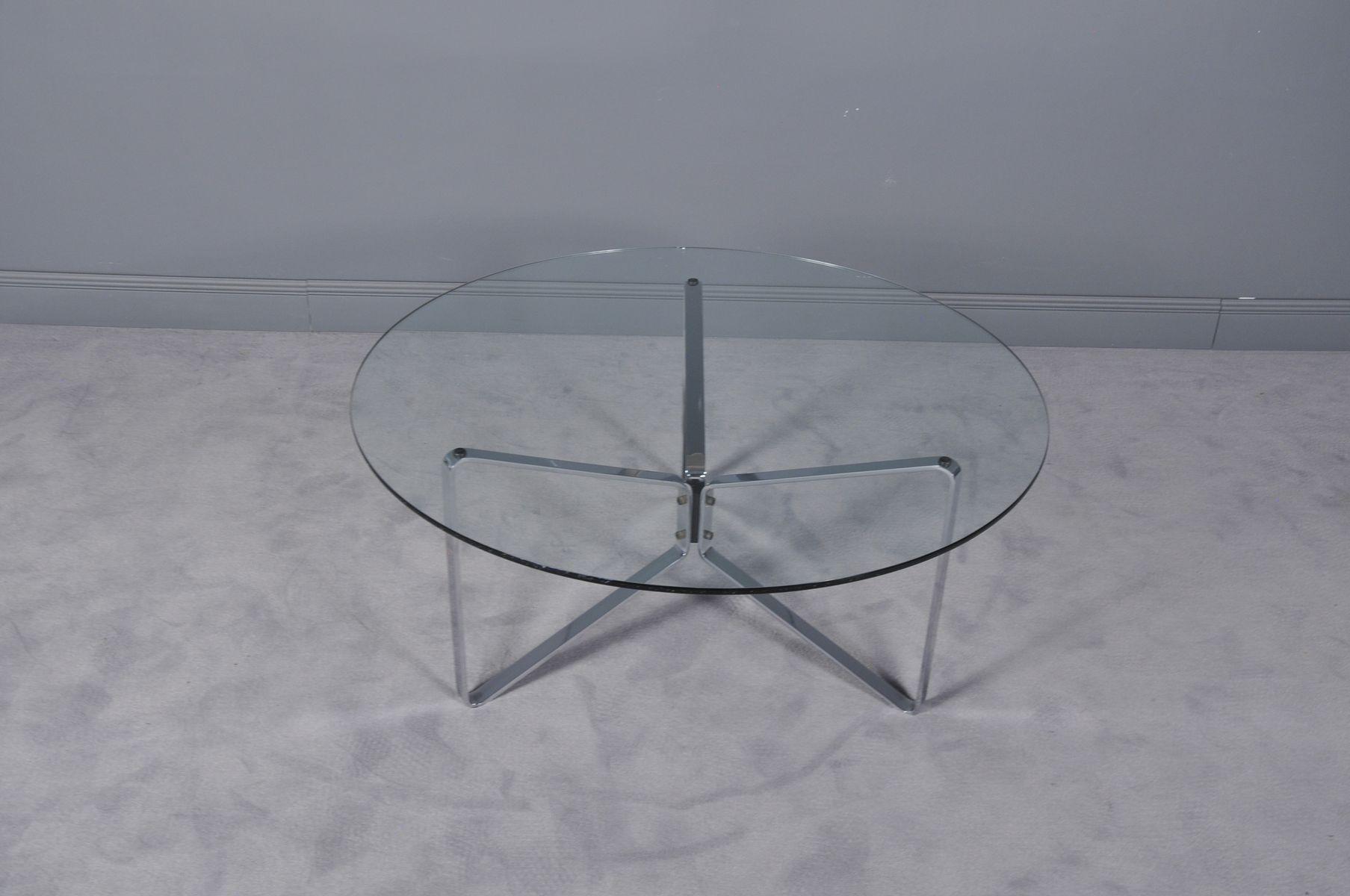 table basse ronde en verre 1970s en vente sur pamono. Black Bedroom Furniture Sets. Home Design Ideas