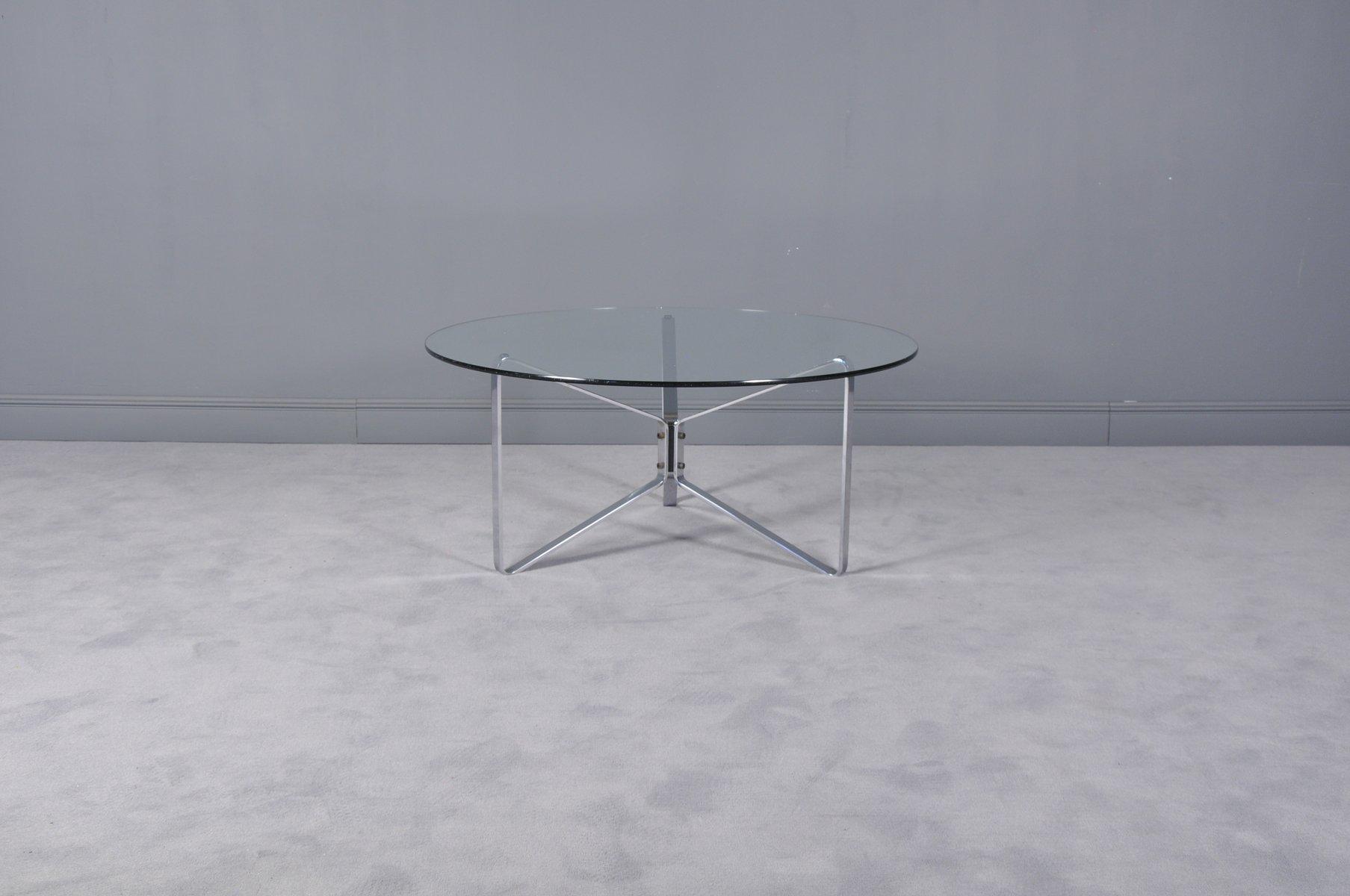 runder glas couchtisch 1970er bei pamono kaufen. Black Bedroom Furniture Sets. Home Design Ideas