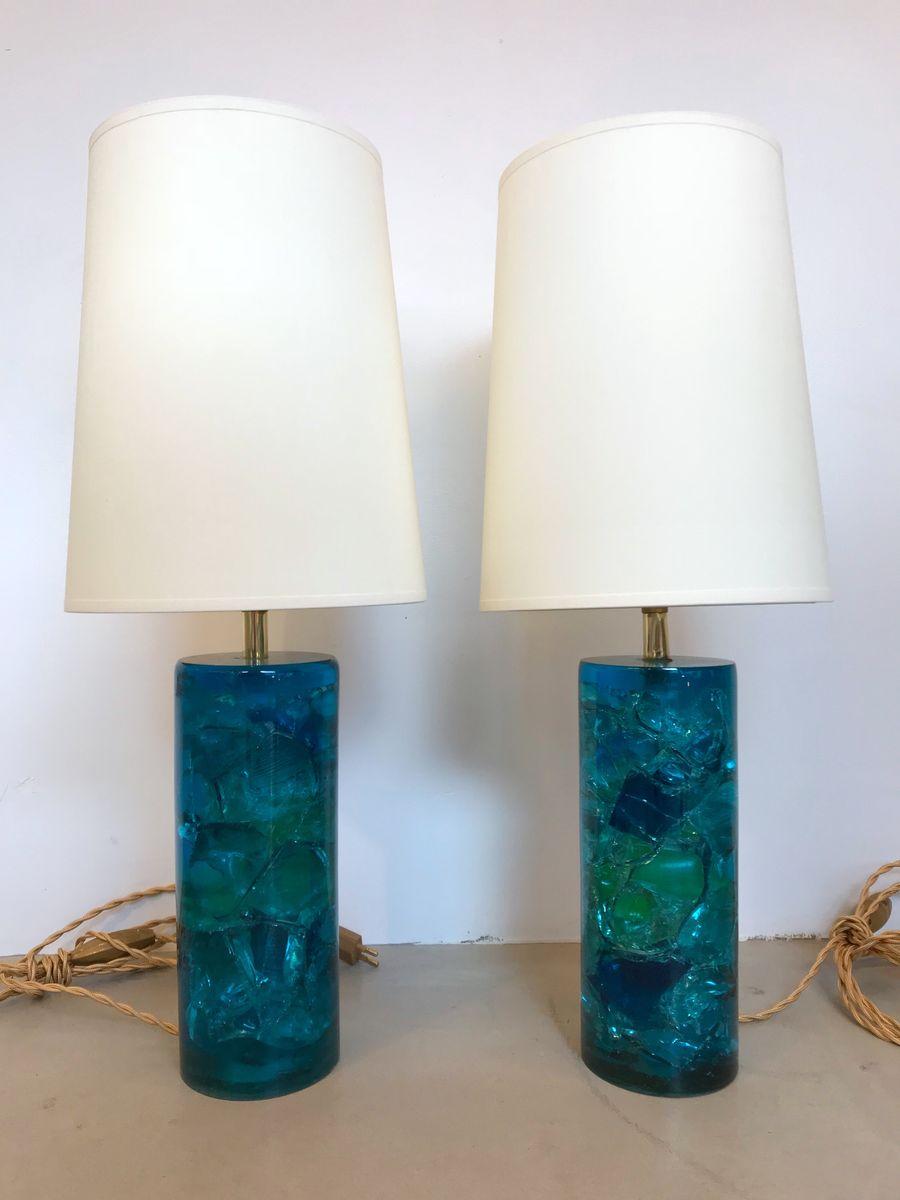 Französische Tischlampen, 1970er, 2er Set