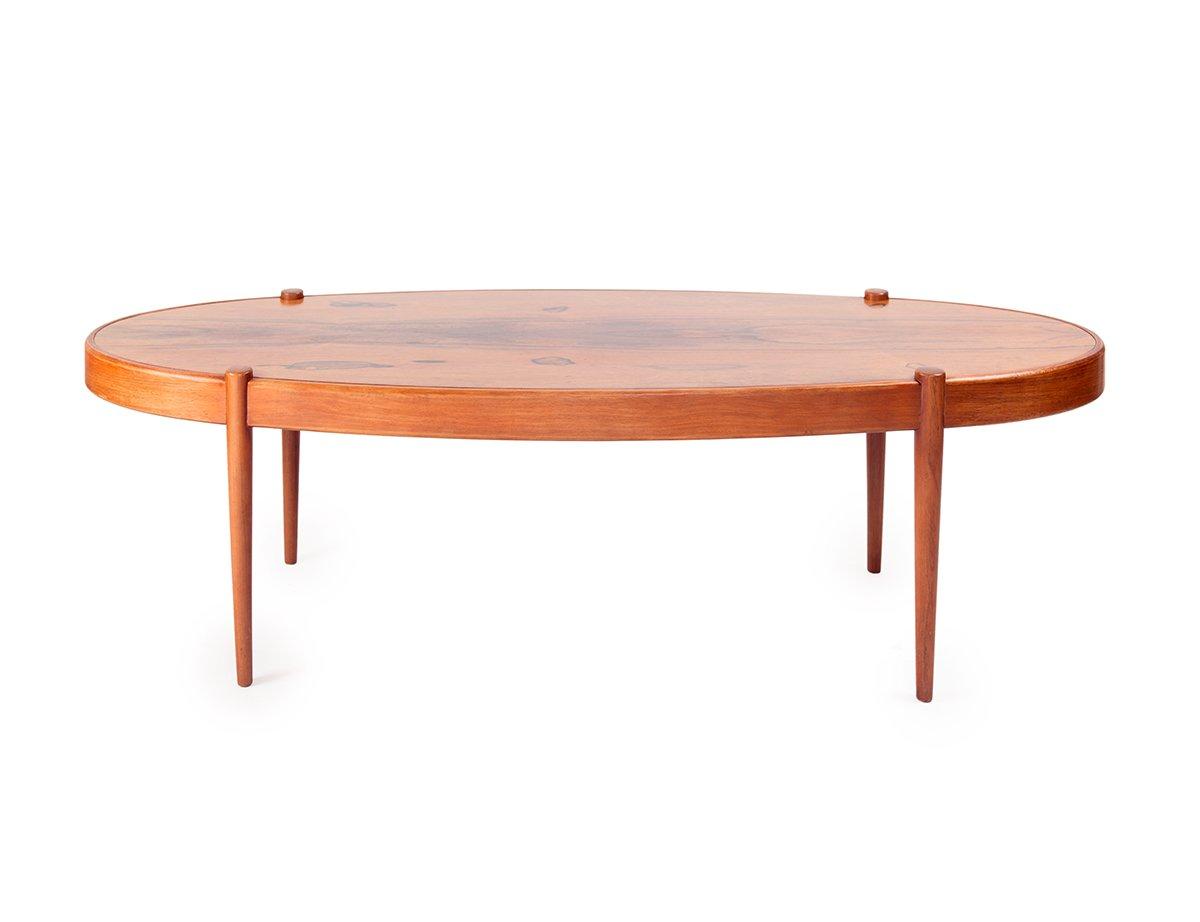 table basse ovale en palissandre 1950s en vente sur pamono. Black Bedroom Furniture Sets. Home Design Ideas