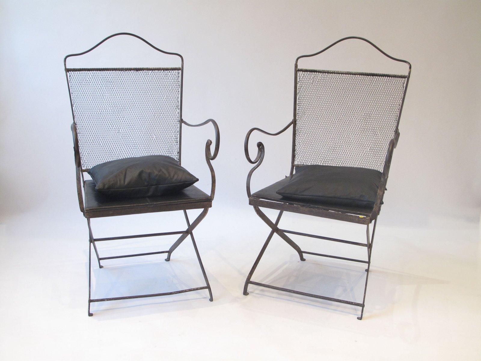 Sedia in ferro battuto, tardo XVIII secolo in vendita su Pamono