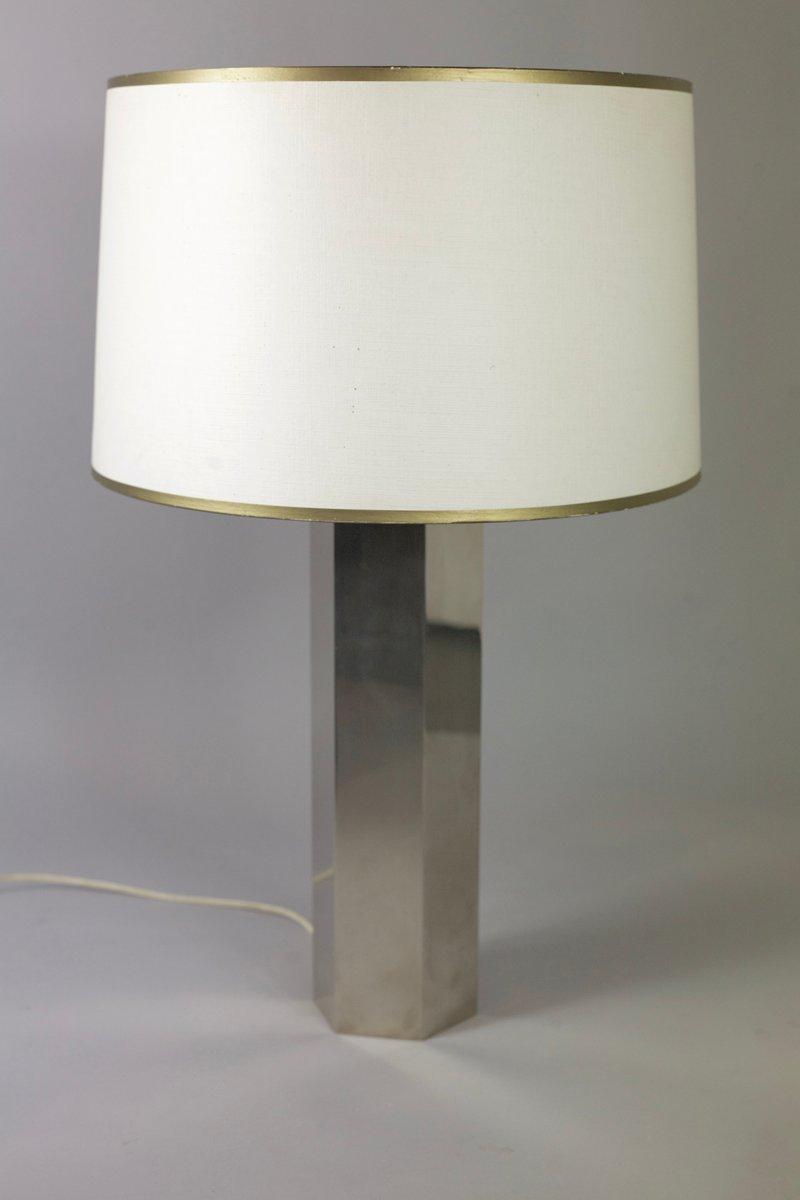 Verchromte Hexagonale Stahl Lampe, 1970er