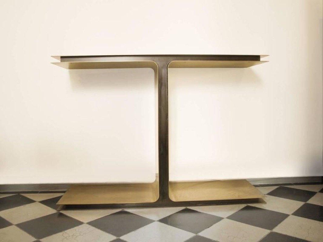 console contemporaine en laiton m tal par giacomo cuccoli 2014 en vente sur pamono. Black Bedroom Furniture Sets. Home Design Ideas