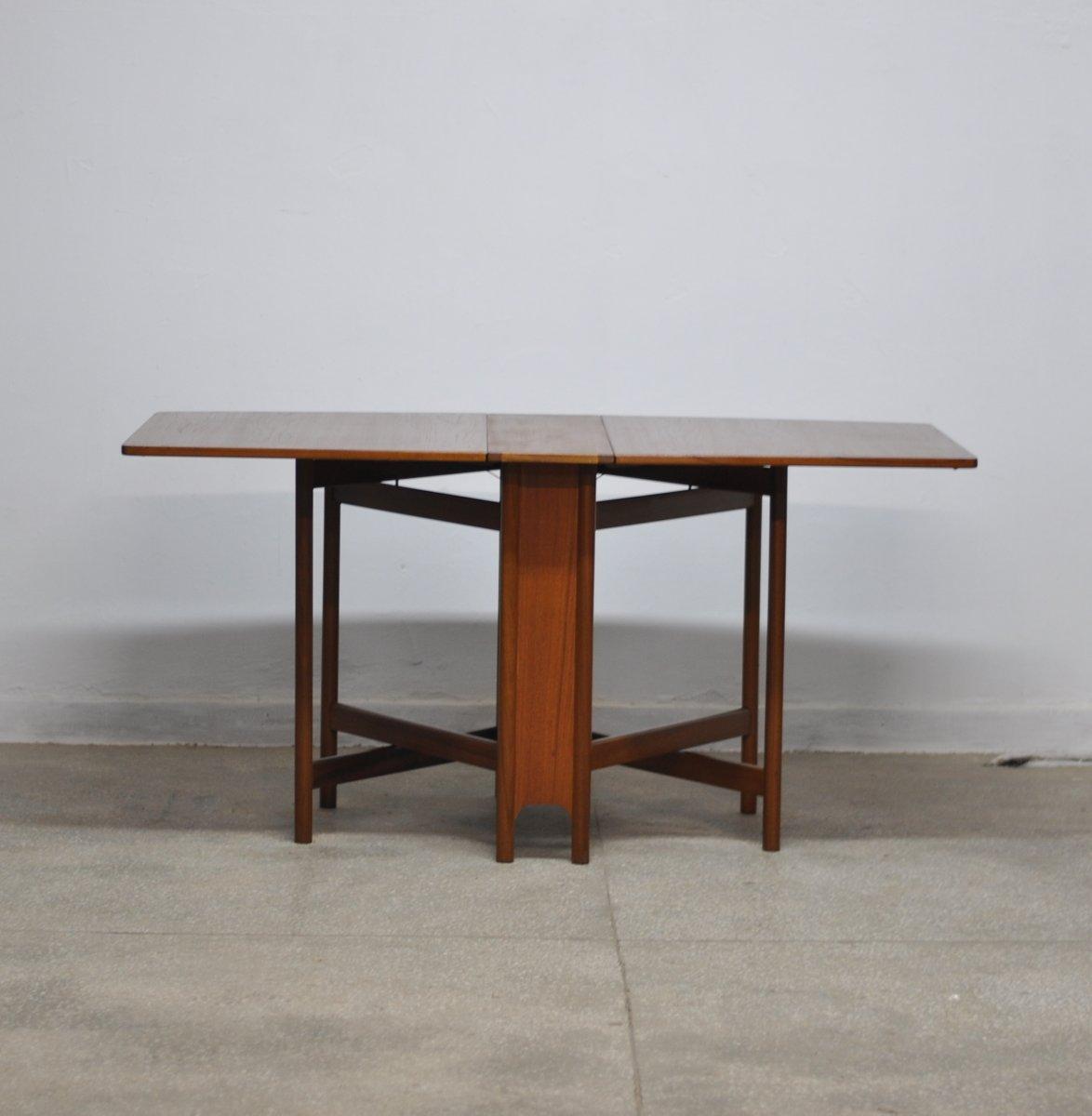 tavolo da pranzo pieghevole mid century di mcintosh anni