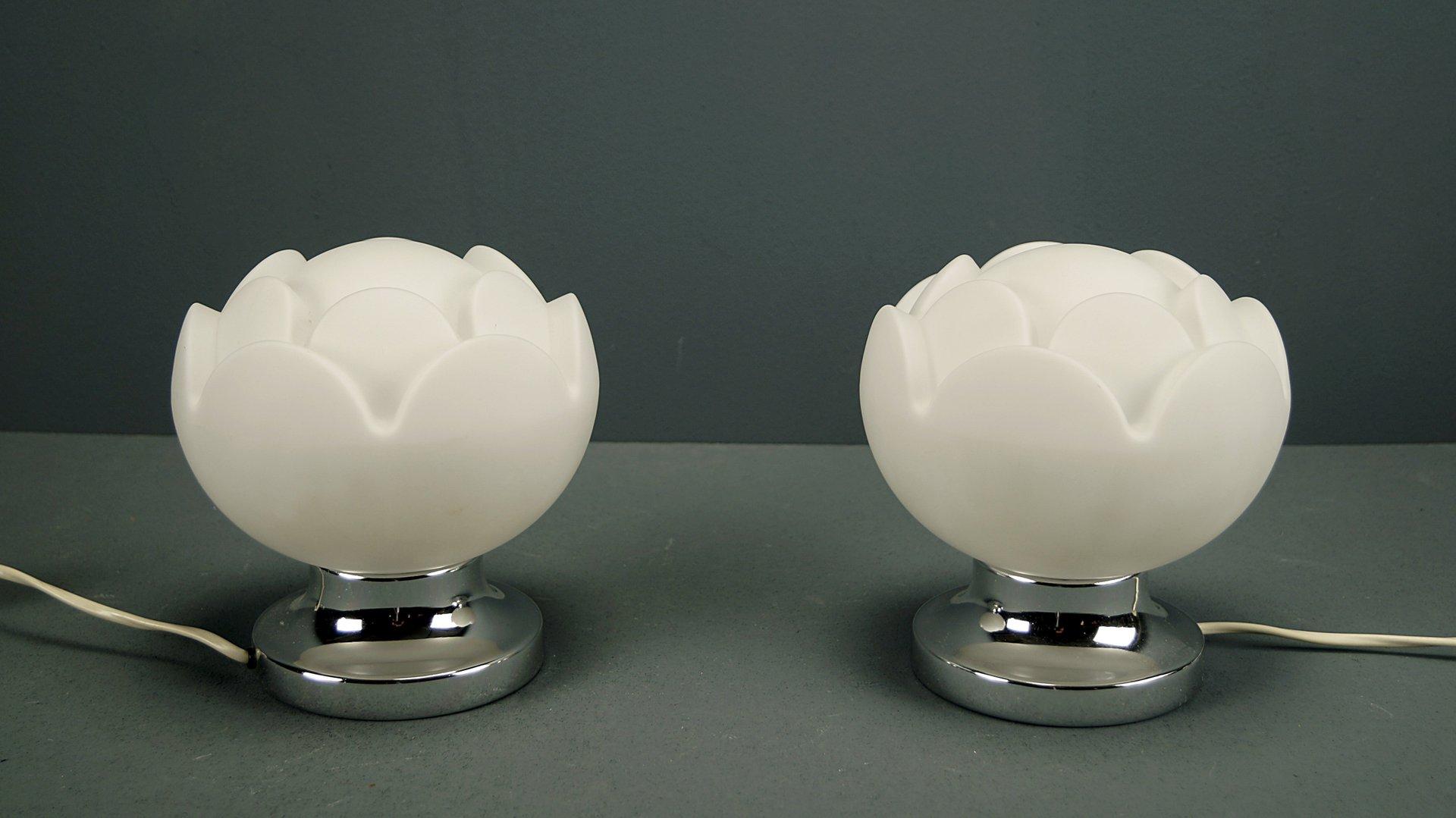 Seerose Tischlampe von Peill & Putzler, 1960er, 2er Set