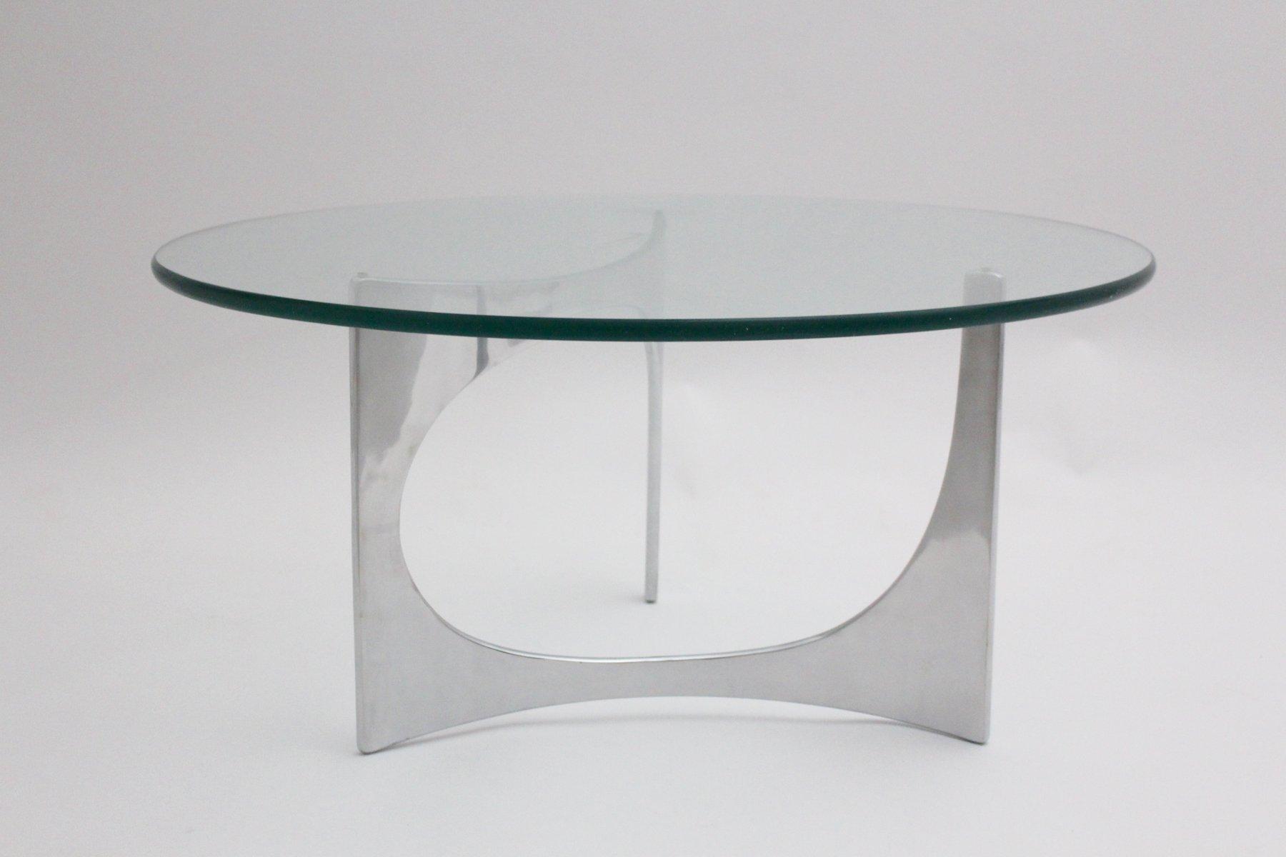 runder deutscher vintage couchtisch aus glas von knut hesterberg 1970er bei pamono kaufen. Black Bedroom Furniture Sets. Home Design Ideas