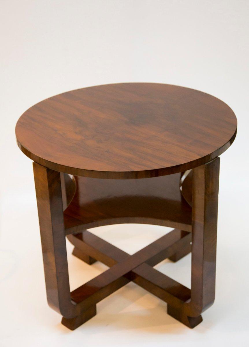 vintage walnut veneer art deco coffee table for sale at pamono. Black Bedroom Furniture Sets. Home Design Ideas