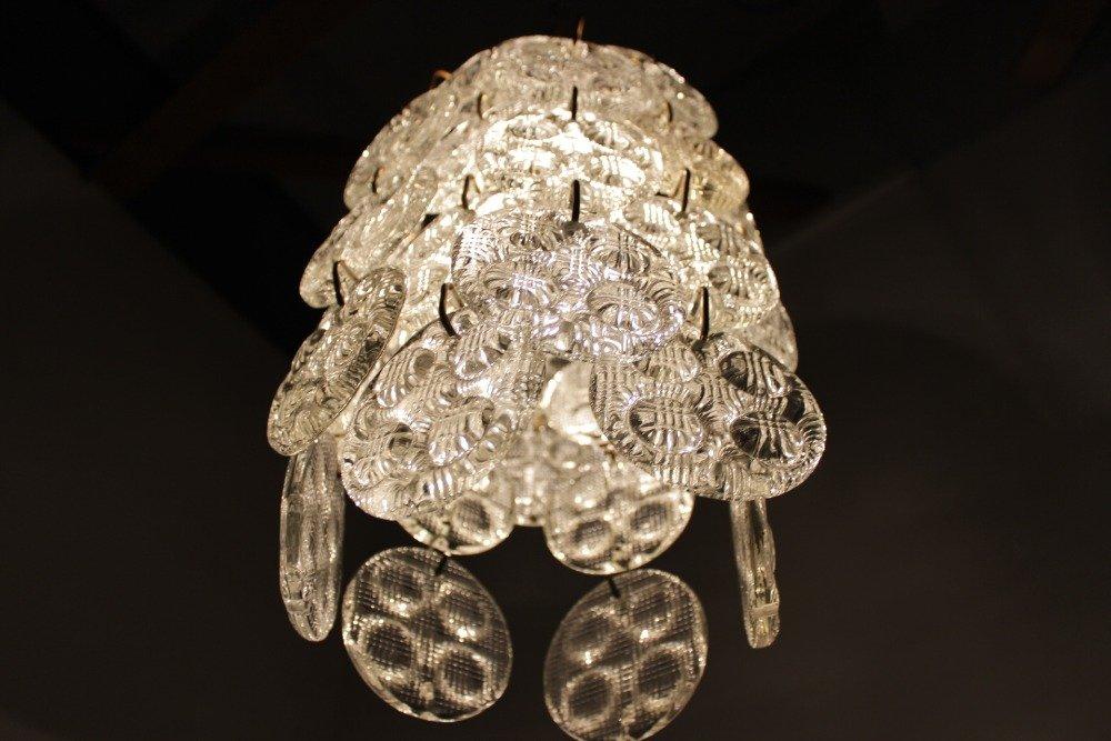 chandelier en verre de elezn brod 1970s en vente sur pamono. Black Bedroom Furniture Sets. Home Design Ideas