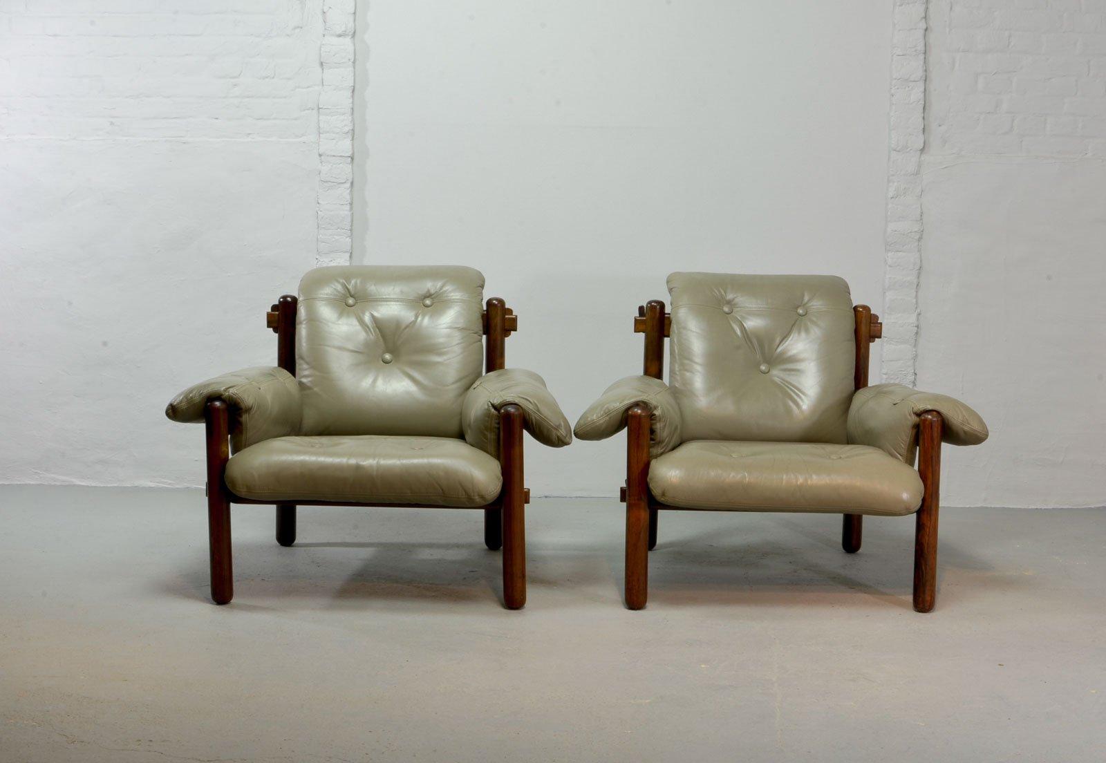 Sessel aus Brasilianischem Palisander von Jean Gillon für Wood Art, 19...