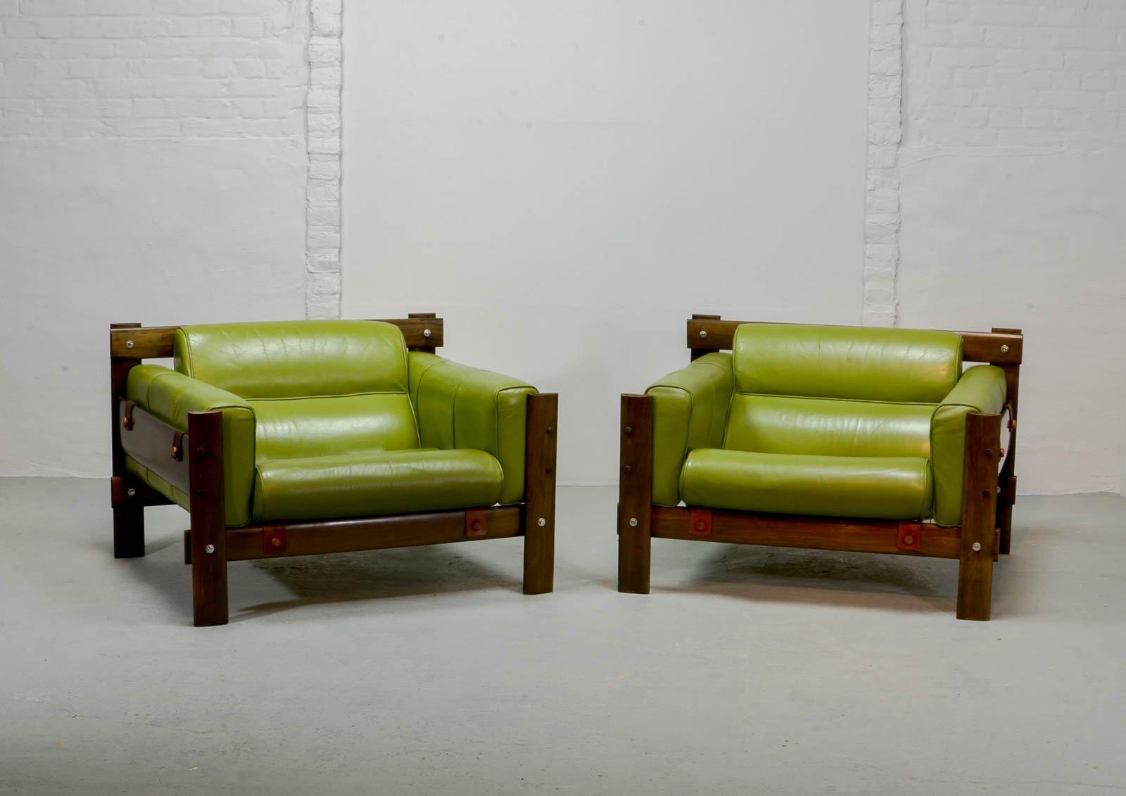 Imboya Sessel aus Holz von Percival Lafer für L´atelier, 1970er, 2er S...