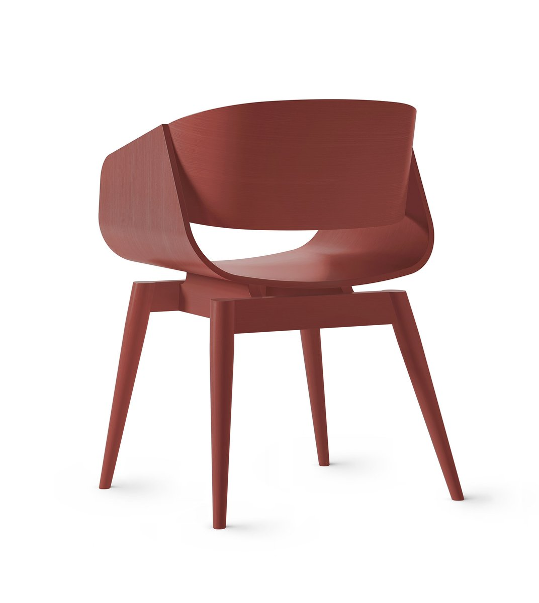 4th Armchair Color In Red By Almost For Sale At Pamono