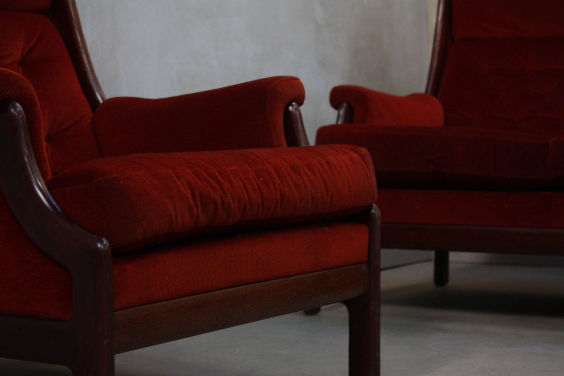 vintage sessel und sofa von guy rogers 1960er 2er set bei pamono kaufen. Black Bedroom Furniture Sets. Home Design Ideas