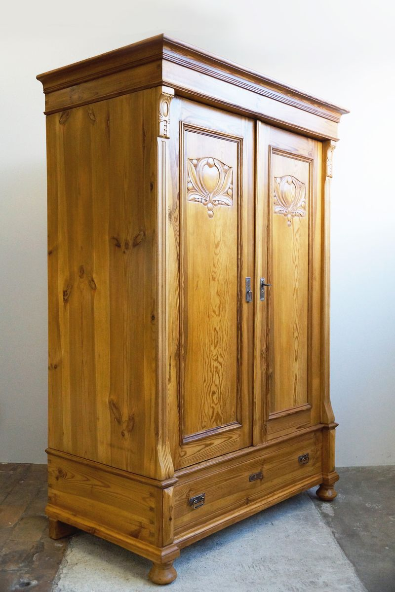 armoire art nouveau antique en vente sur pamono. Black Bedroom Furniture Sets. Home Design Ideas