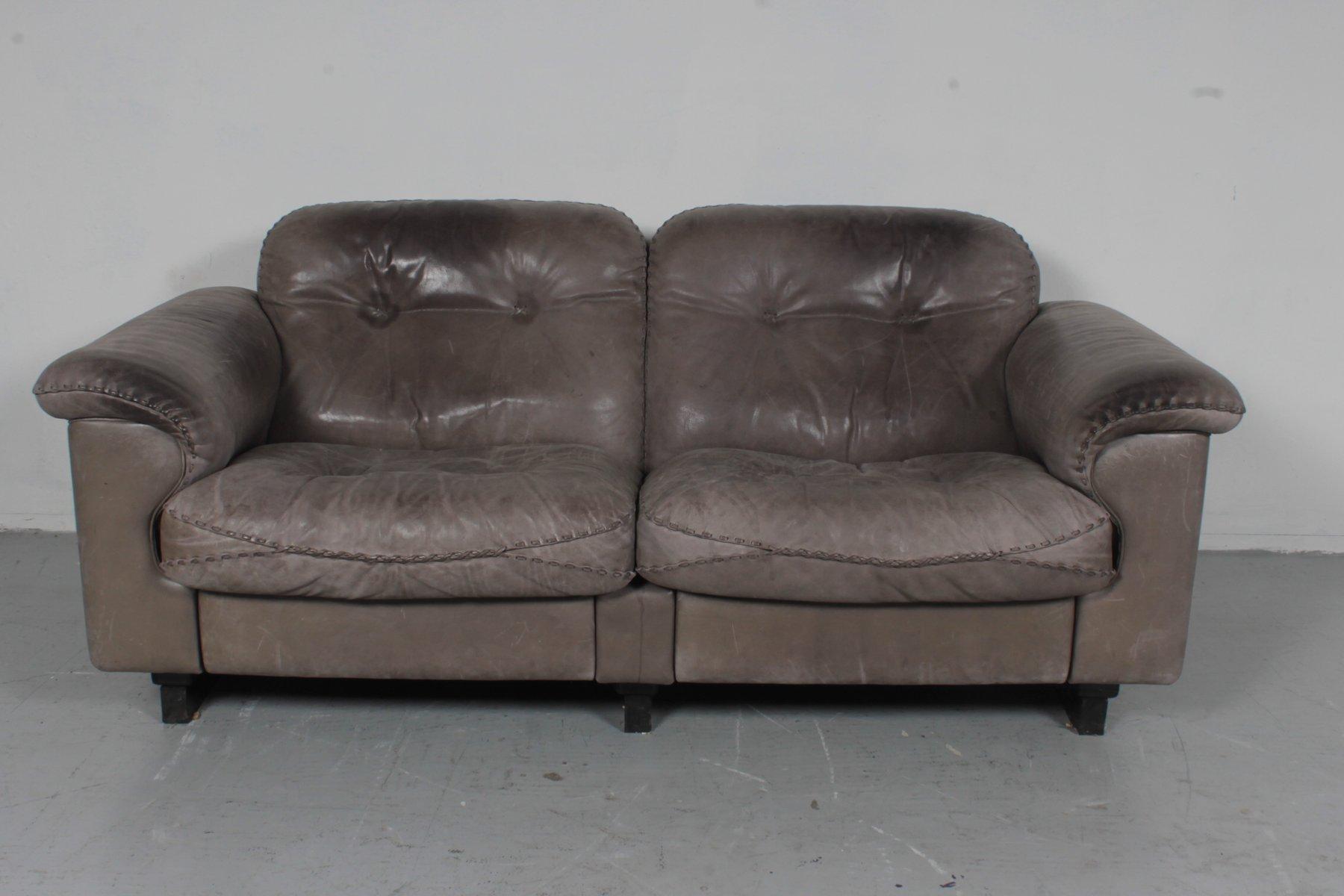 ds101 2 sitzer sofa von de sede 1970er bei pamono kaufen. Black Bedroom Furniture Sets. Home Design Ideas
