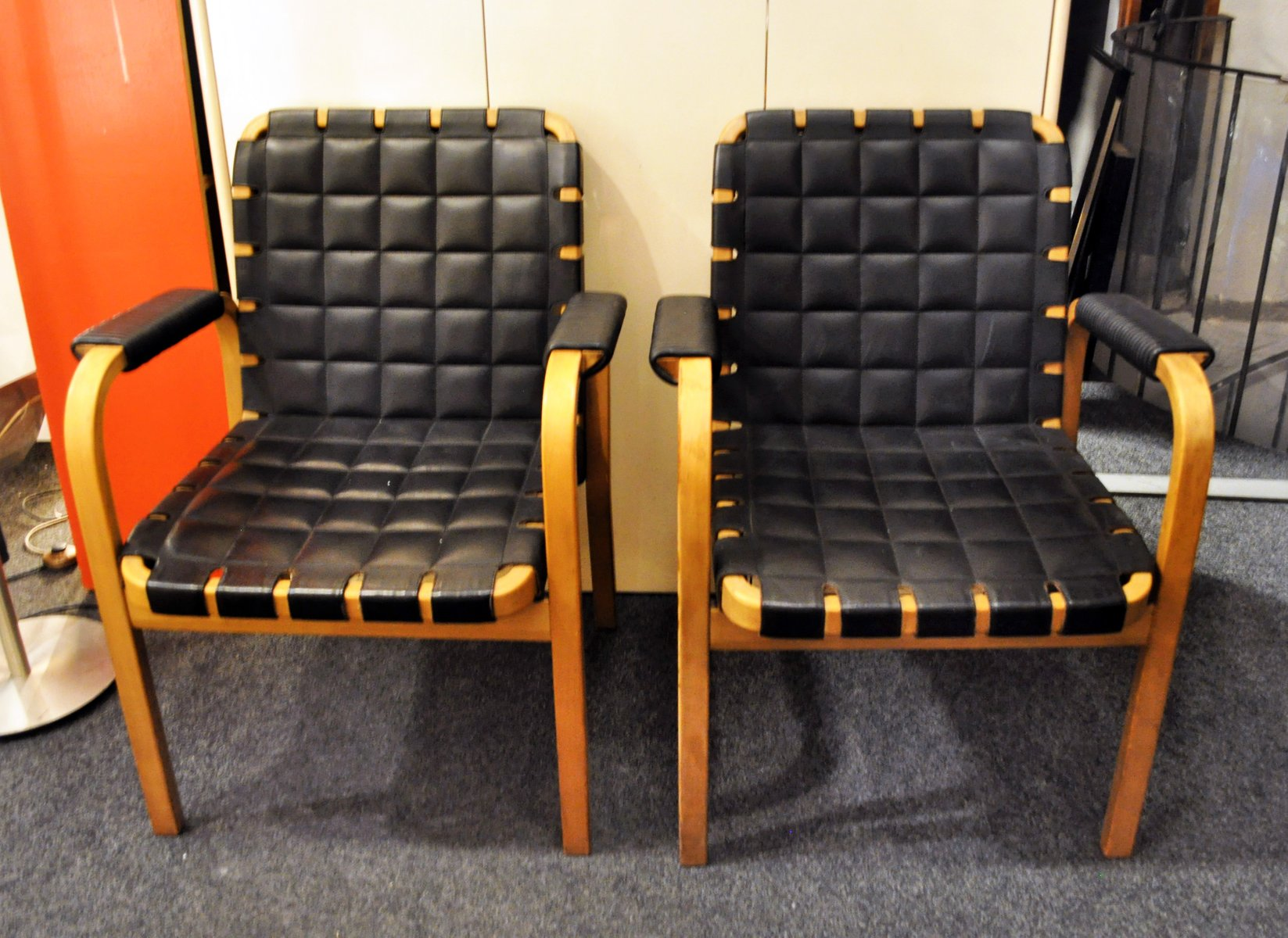 modell 46 sessel von alvar aalto f r artek 1947 2er set bei pamono kaufen. Black Bedroom Furniture Sets. Home Design Ideas