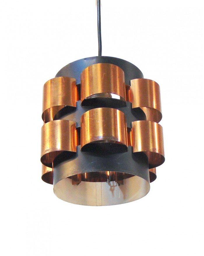 Dänische Lampe in Schwarz & Gold von Fog & Mørup, 1960er