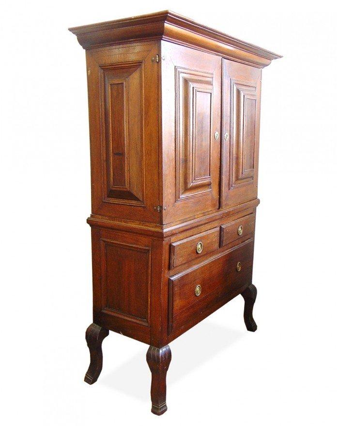 meuble de pharmacie antique su de 1750s en vente sur pamono. Black Bedroom Furniture Sets. Home Design Ideas