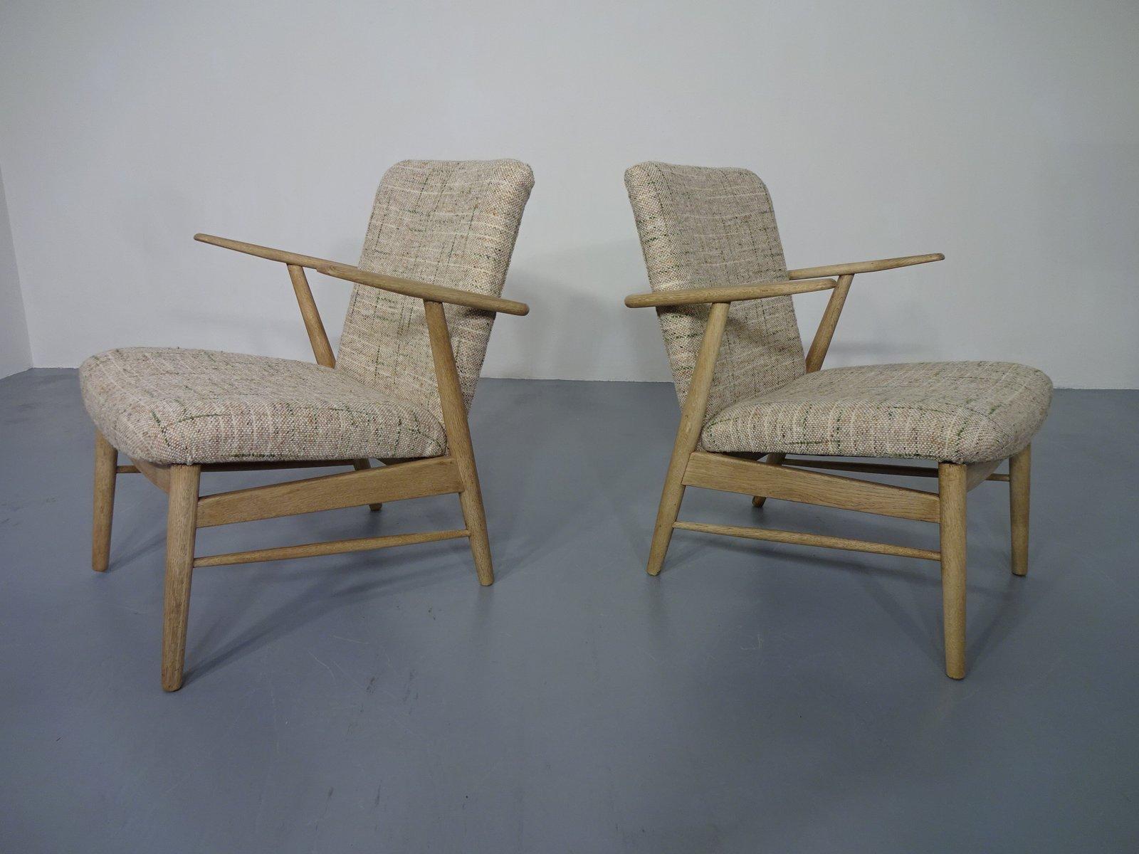 Dänische Vintage Eiche Sessel mit Armlehnen, 2er Set