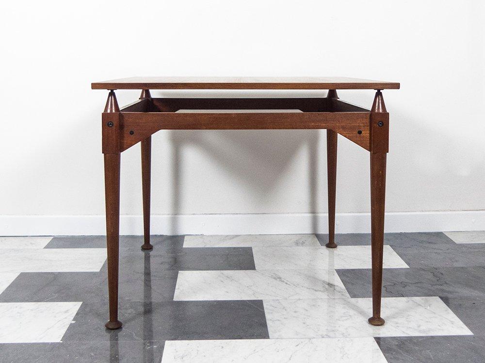 Quadratischer TL3 Teak Tisch von Franco Albini für Poggi, 1960er