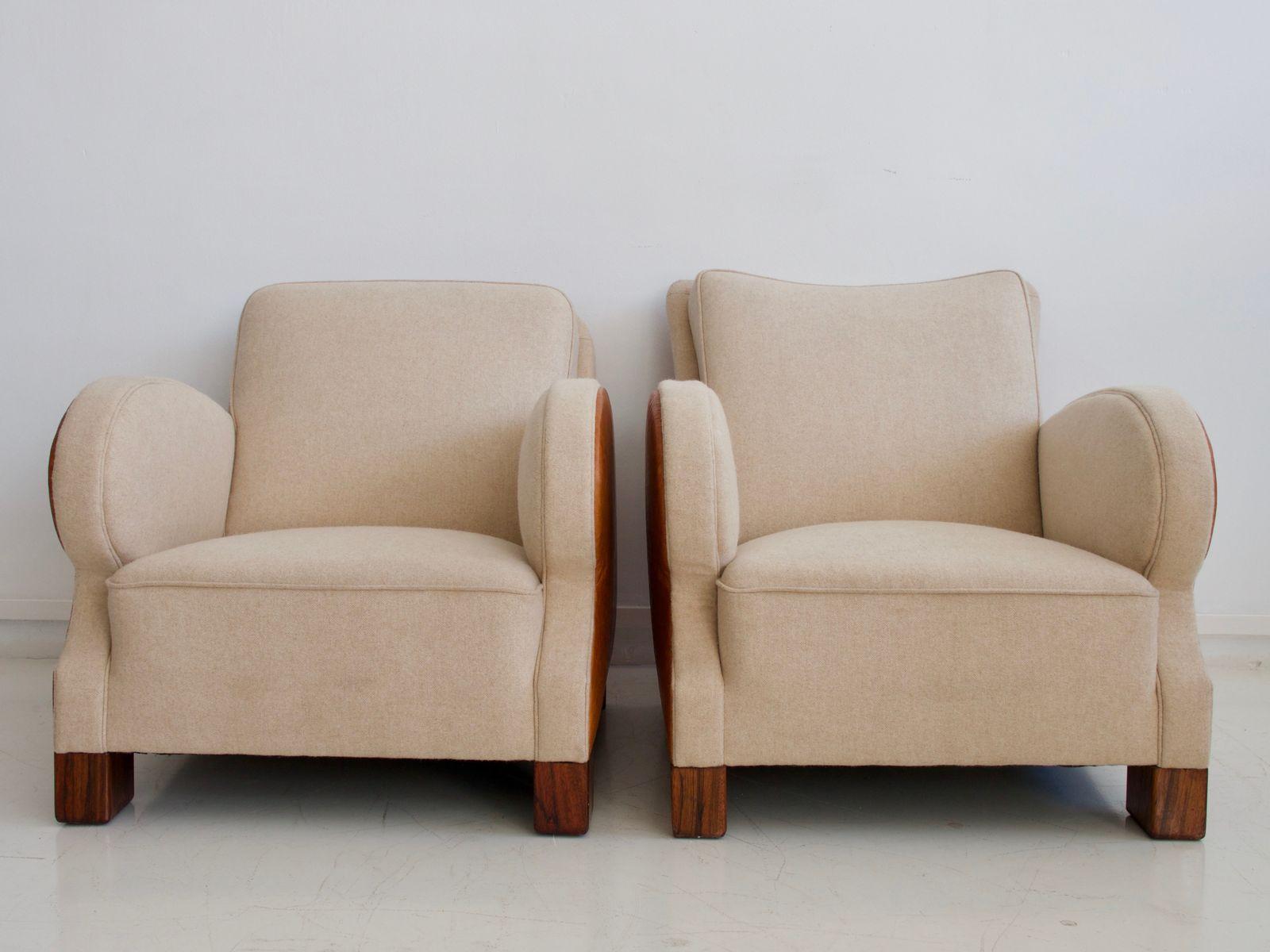art deco sessel 1930er 2er set bei pamono kaufen. Black Bedroom Furniture Sets. Home Design Ideas