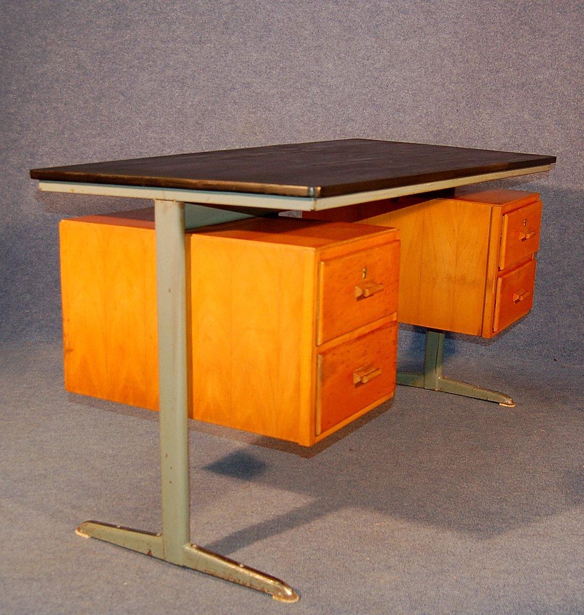 industrieller mid century schreibtisch von friso kramer 1950er bei pamono kaufen. Black Bedroom Furniture Sets. Home Design Ideas