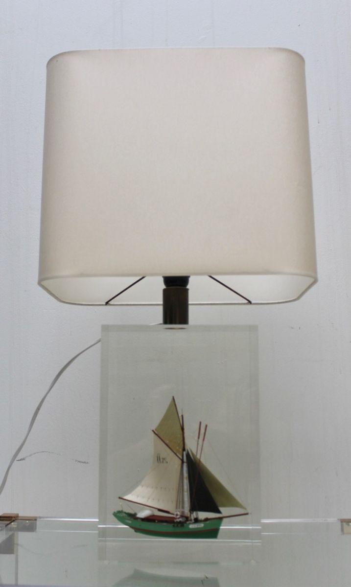 Vintage Tischlampe aus Plexiglas