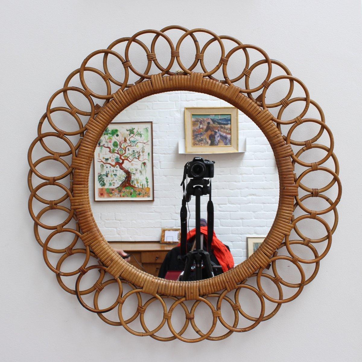 italienischer wandspiegel in sonnenblumen optik 1960er bei pamono kaufen. Black Bedroom Furniture Sets. Home Design Ideas