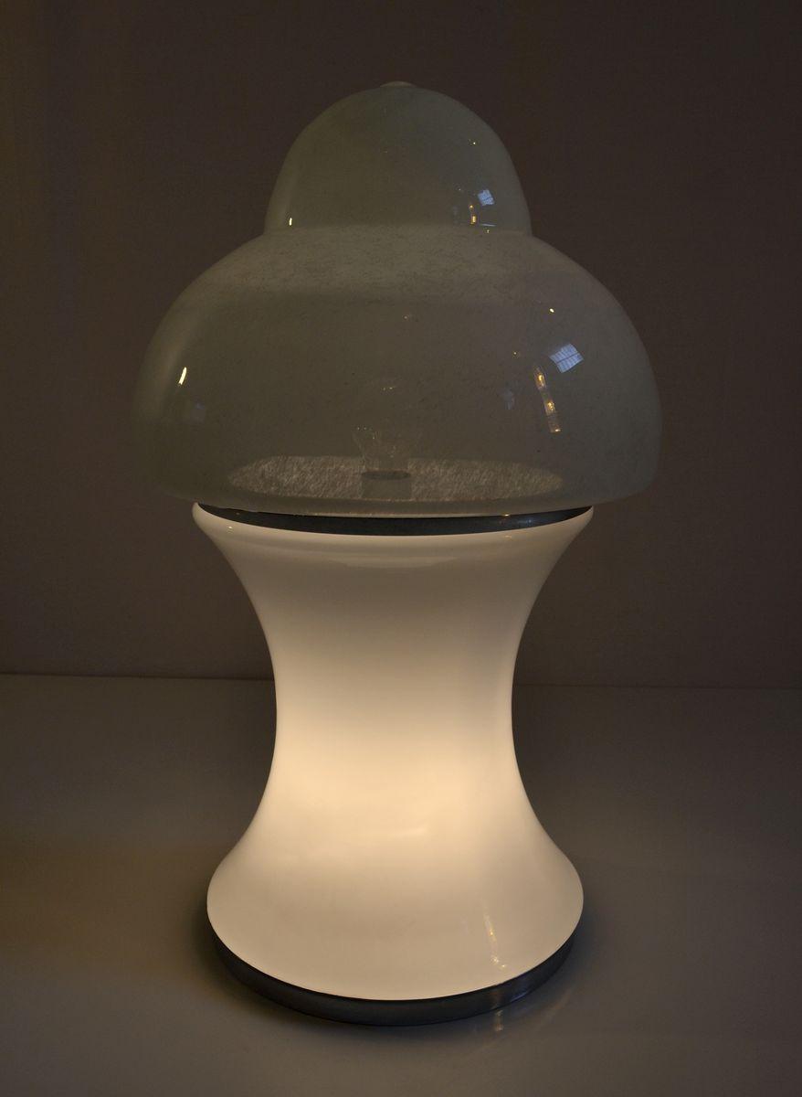 vintage tischlampe aus glas bei pamono kaufen. Black Bedroom Furniture Sets. Home Design Ideas