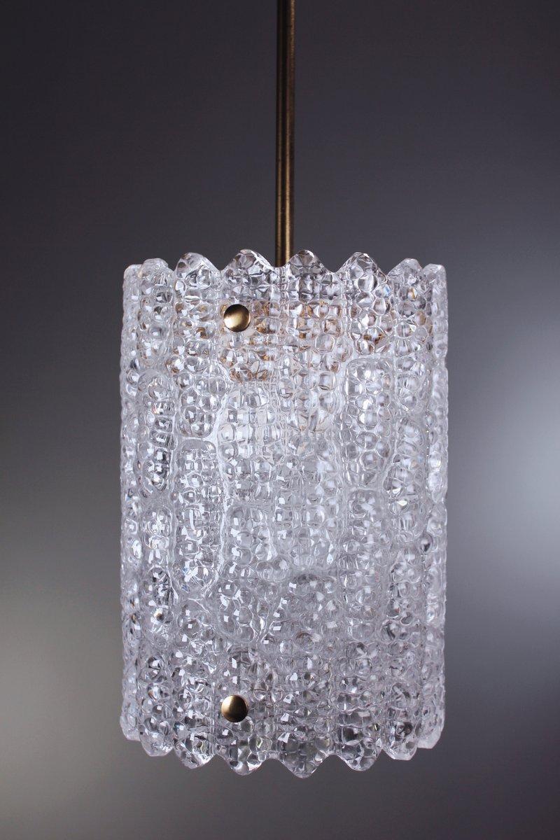 Moderne Schwedische Kristallglas Hängelampe von Carl Fagerlund für Orr...