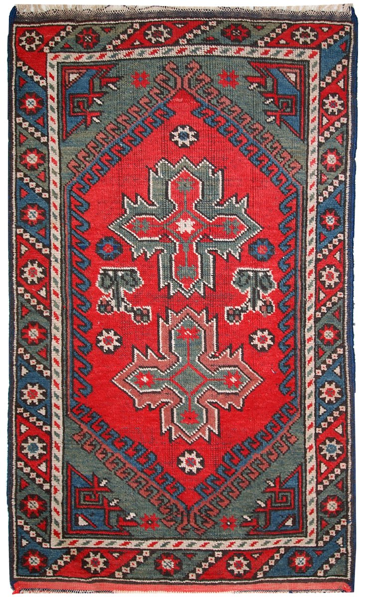 Antique Handmade Turkish Anatolian Rug 1920s For Sale At