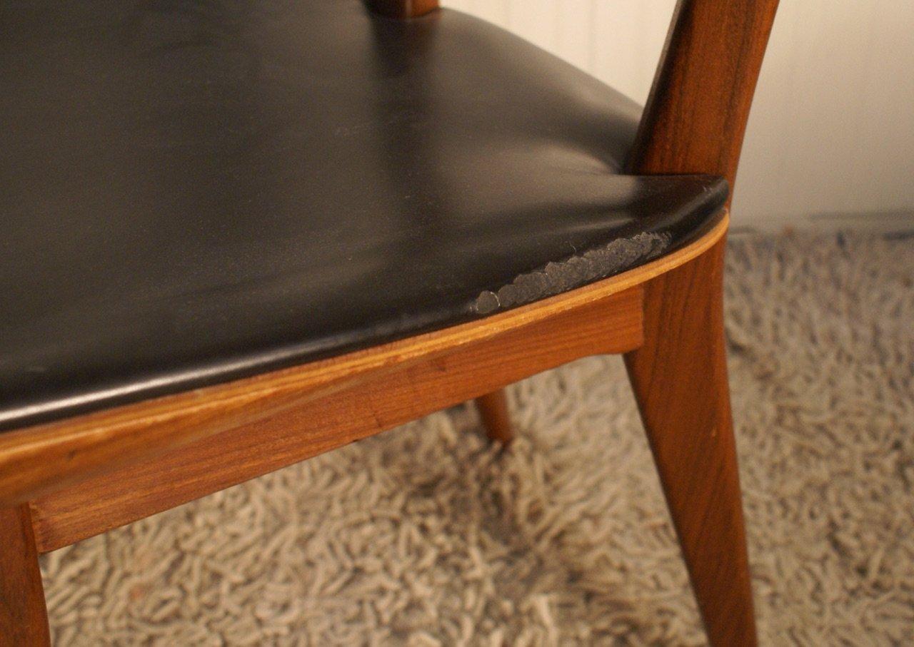 Niederlandische Vintage Esszimmer Stuhle Aus Schichtholz Teak 4er