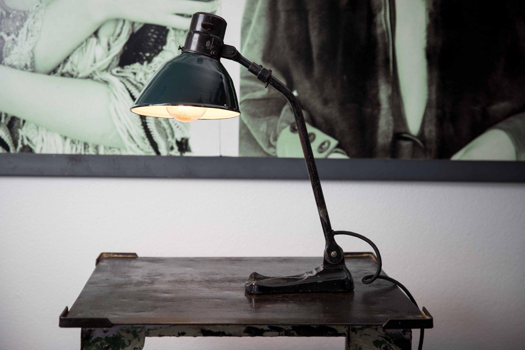 Lampada Vintage Industriale : Lampada da tavolo bolichwerke vintage industriale di ebolicht anni