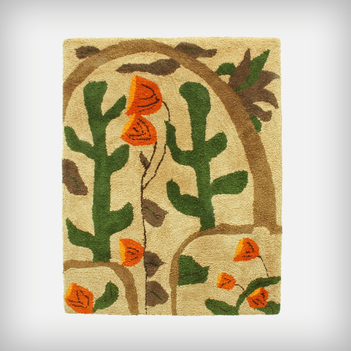 Large Colorful Cactus & Flower Landscape Wall Tapestry, 1960s for ...