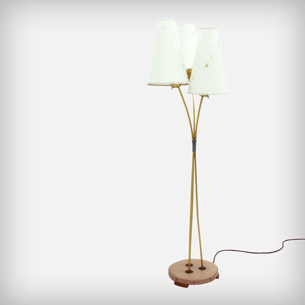 Stehlampe mit 3 Leuchten, 1950er