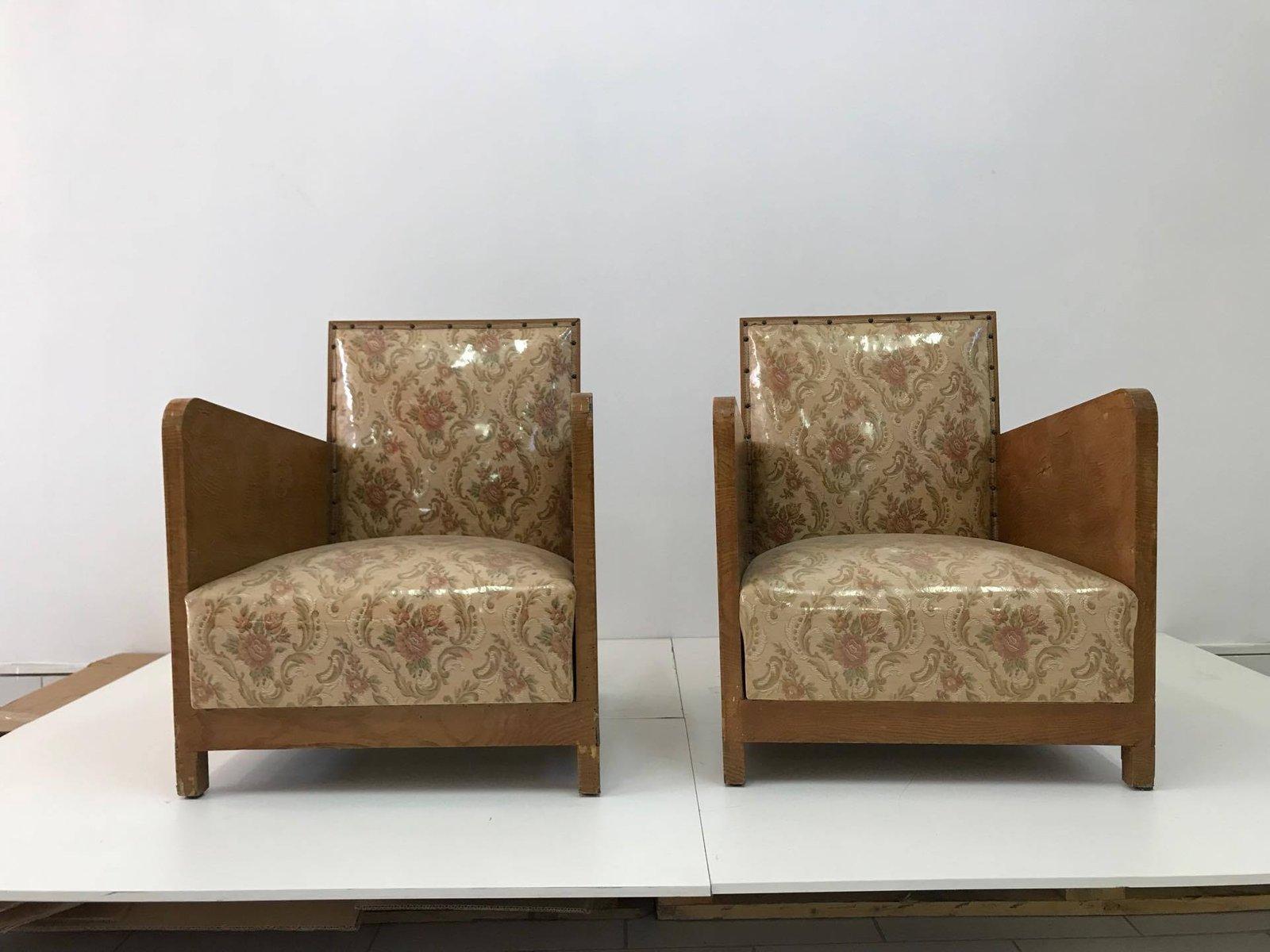 Art Deco Stühle, 1960er, 2er Set