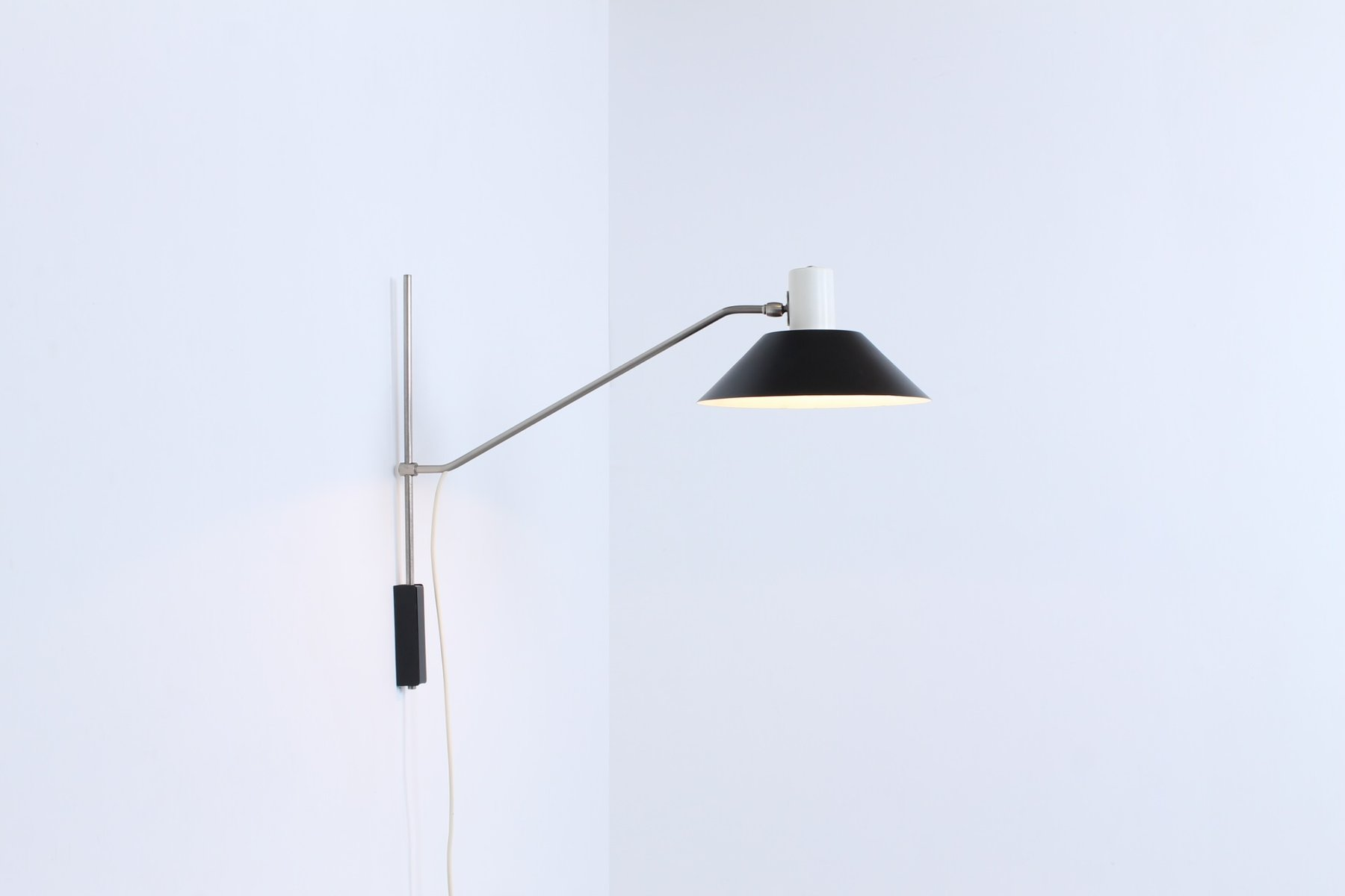 7078 Adjustable Wall Light By J. J. M. Hoogervorst For Anvia, 1950s