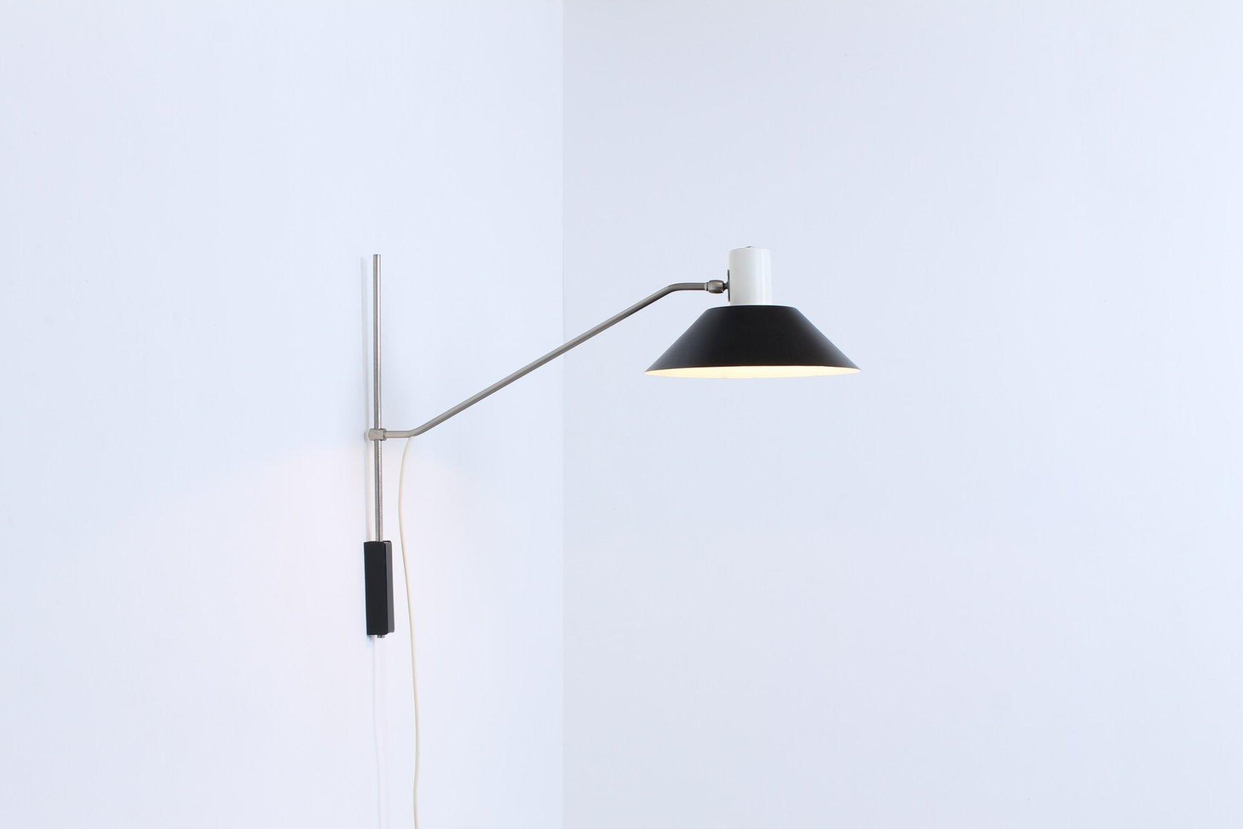 Verstellbare No. 7078 Wandlampe von J. J. M. Hoogervorst für Anvia, 19...