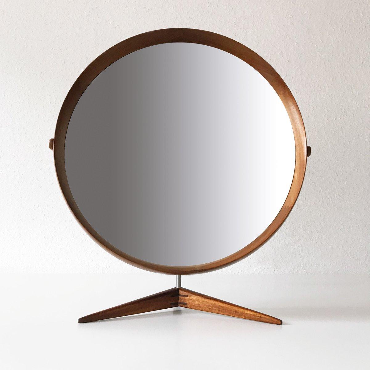 Mid Century Swedish Large Teak Table Mirror By 214 Sten Amp Uno
