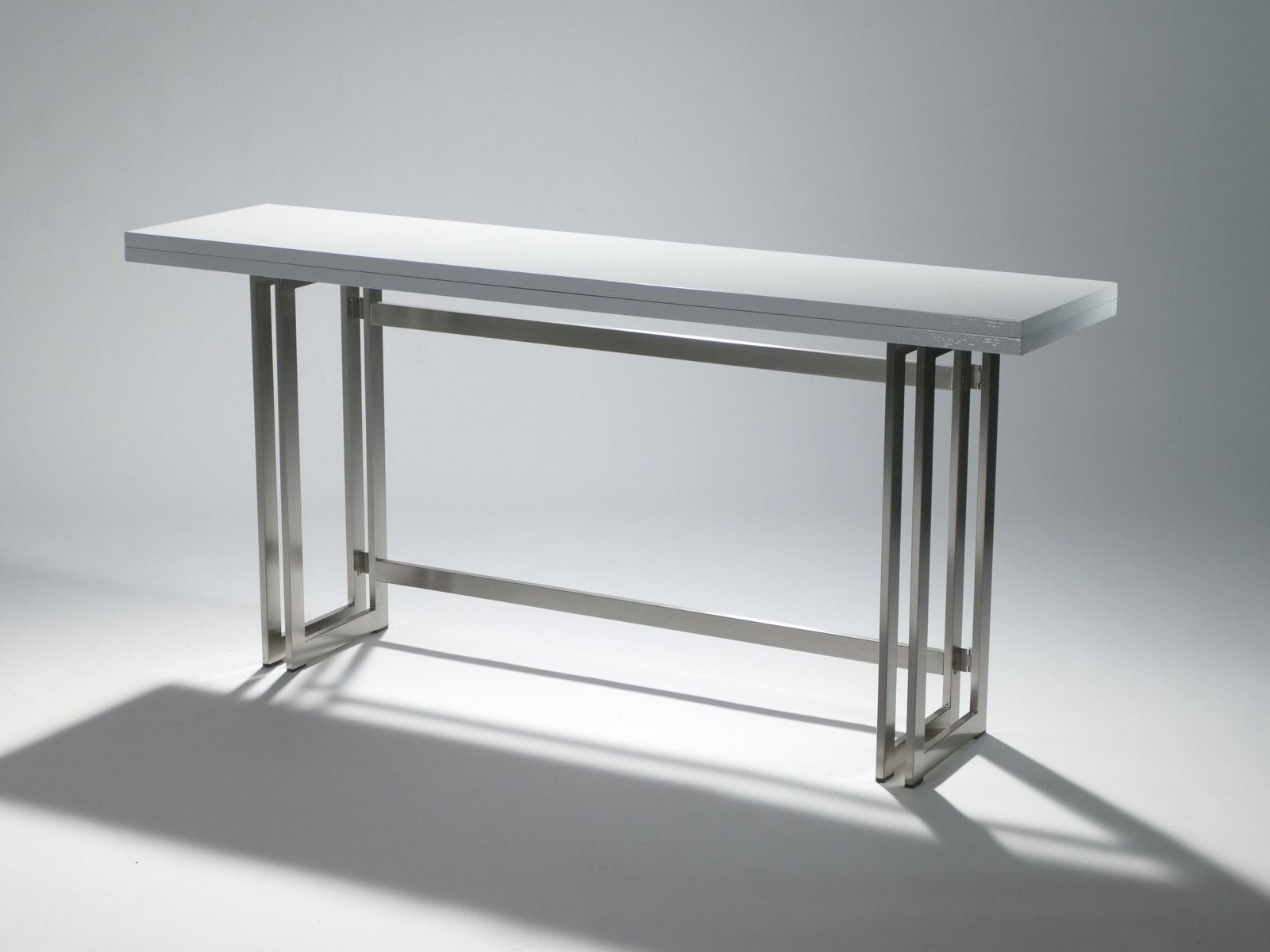 Mid Century Italian Large Lacquered Console Table By Artelano, 1970s