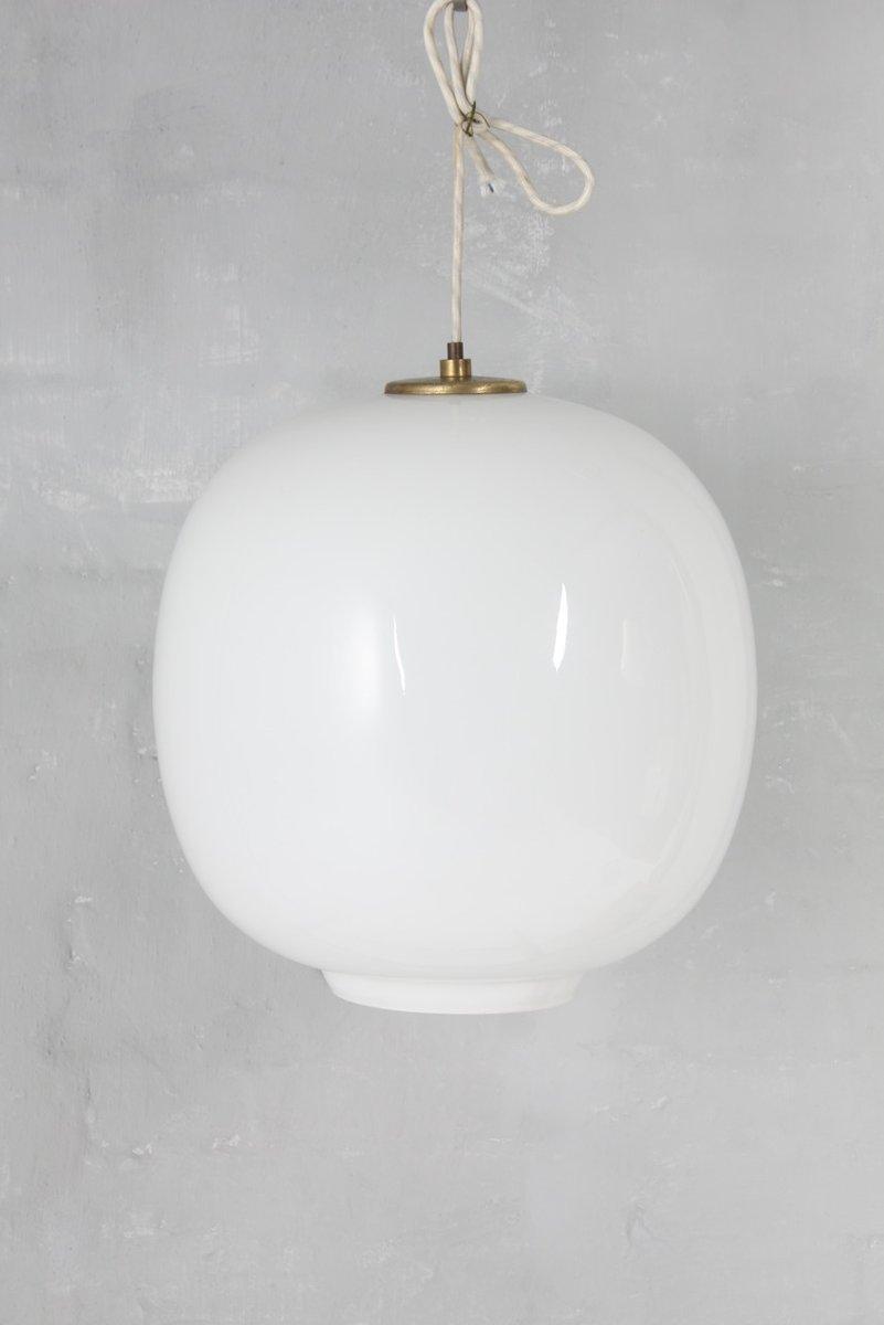 Opalglas Hängelampe von Vilhelm Lauritzen für Louis Poulsen, 1960er