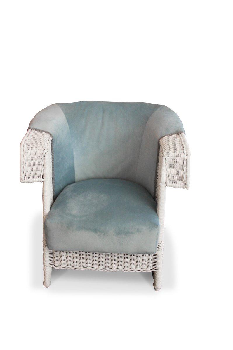 fauteuil antique en osier par hans vollmer pour prag rudniker en vente sur pamono. Black Bedroom Furniture Sets. Home Design Ideas
