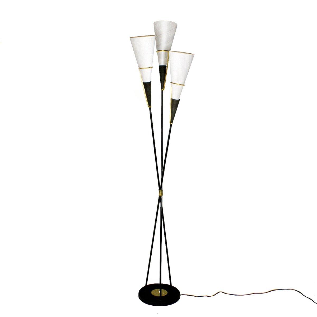 Dreibein Stehlampe, 1950er