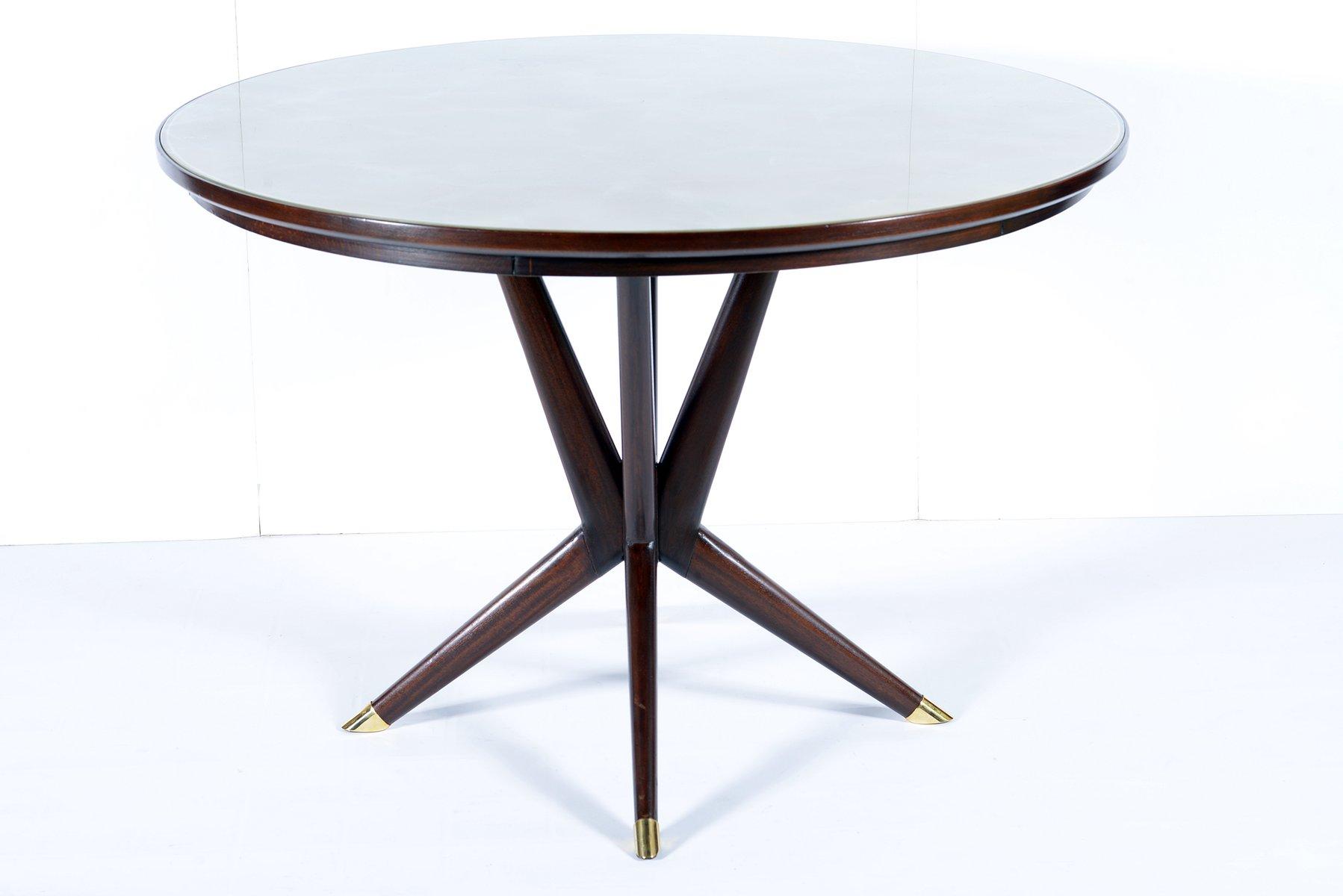 table ronde avec plateau en verre italie 1950s en vente. Black Bedroom Furniture Sets. Home Design Ideas