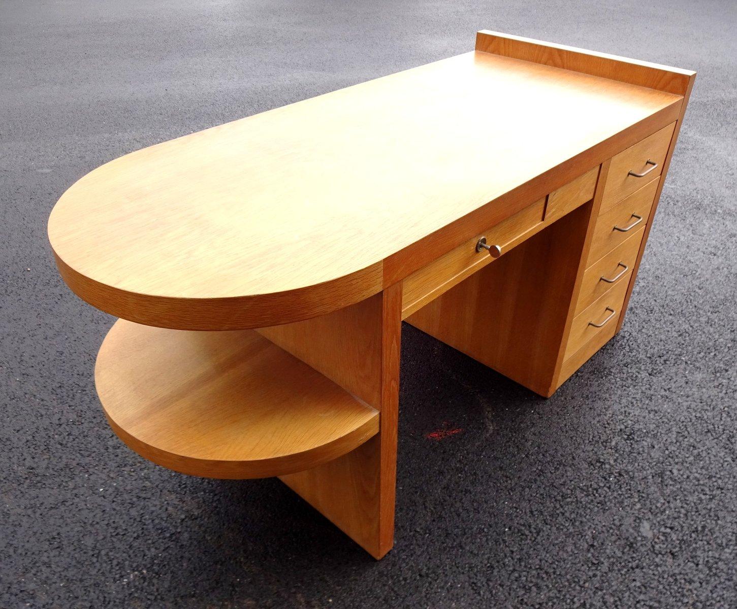 mid century eichenholz schreibtisch 1950er bei pamono kaufen. Black Bedroom Furniture Sets. Home Design Ideas